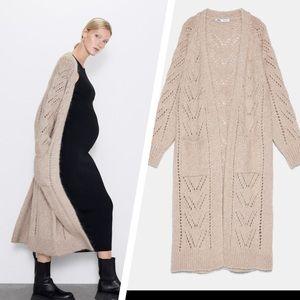 NWT: Zara long slightly oversized cardigan/coat
